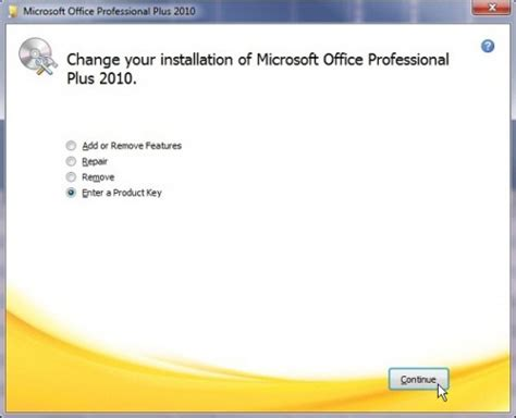 change visio 2010 product key how to change product key for microsoft office 2010