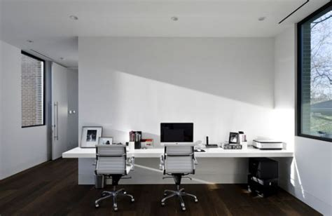 office table design table ideas double mounted white 24 minimalist home office design ideas for a trendy