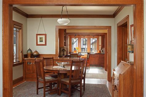 Craftsman Dining Room Design Ideas Remodels Photos With | st paul bungalow remodel craftsman dining room