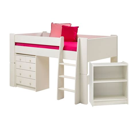 mid sleeper with desk and futon wizard white painted mid sleeper bed with desk chest