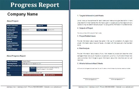 free templates for reports free progress report template free report templates