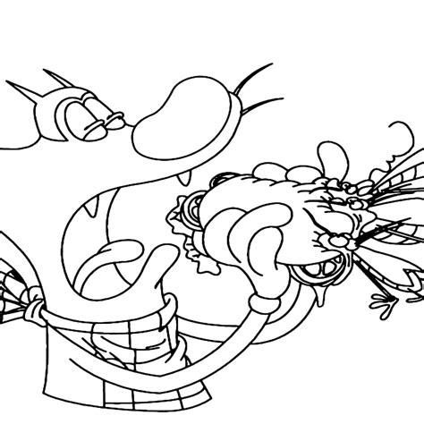 e i disegni di quot oggy e i maledetti scarafaggi quot da colorare con