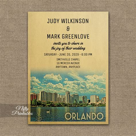 orlando florida wedding invitations orlando florida wedding invitation printed nifty printables