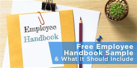 free employee handbook sle what it should include