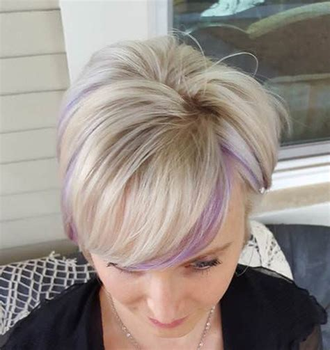 shag haircut brown hair with lavender grey streaks 45 best hairstyles using the fashionable shade of purple