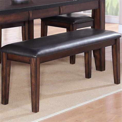 faux leather dining bench crown mark maldives rectangular dining bench with faux