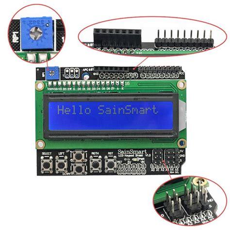 arduino tutorial lcd keypad shield sainsmart keypad shield 1602 lcd module v3 display for