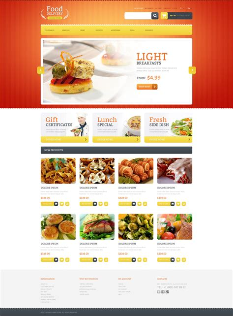 Food Delivery Magento Theme Properhost Food Delivery Website Templates Free