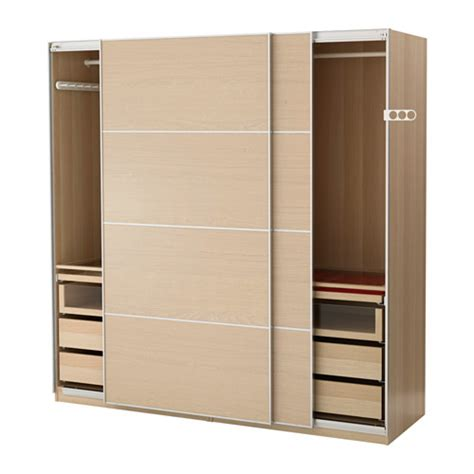 Wardrobe Photo Gallery by Pax Wardrobe White Stained Oak Effect Ilseng White Stained