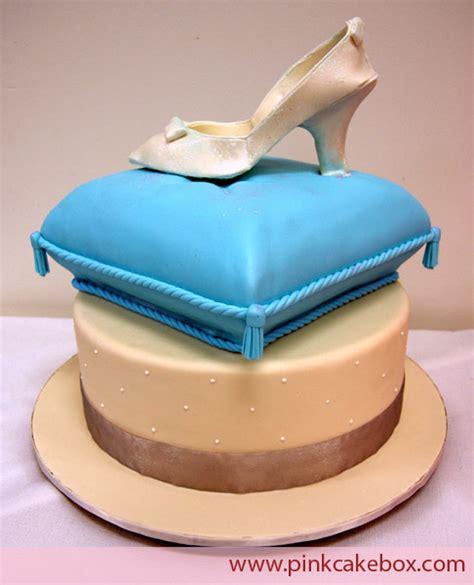 glass slipper cake glass slipper cake 187 bridal shower cakes
