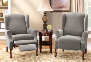 Sure Fit Wing Chair Slipcover Sure Fit Stretch Pique Wing Recliners