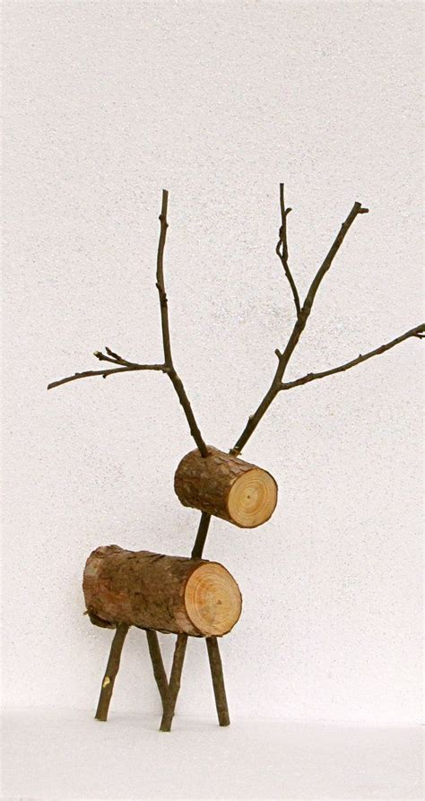 rustic large wooden reindeer christmas decor