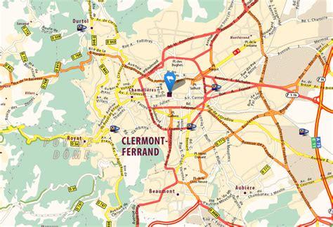 clermont map clermont ferrand map and clermont ferrand satellite image