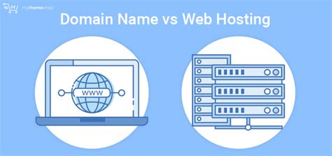 difference   domain   web hosting