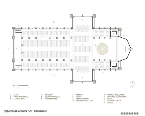 floor plan of cathedral gallery of notre dame haiti cathedral competition entry