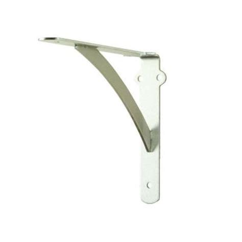 everbilt 10 in x 8 in satin nickel heavy duty shelf