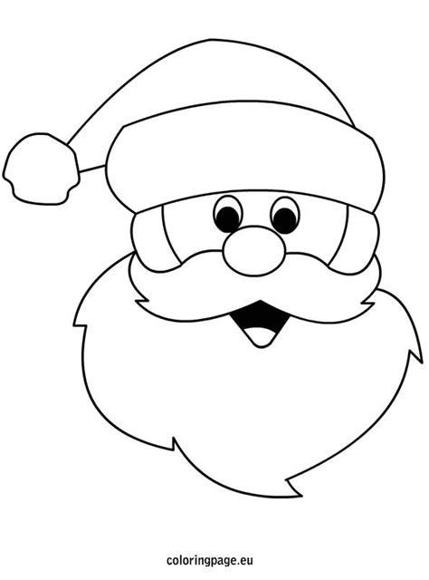 printable santa face template drawn santa face pencil and in color drawn santa face