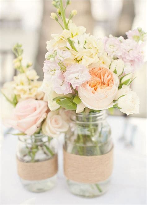 Jar Wedding Flower Arrangements by Rustic Wedding Centrepieces Centerpiece Ideas