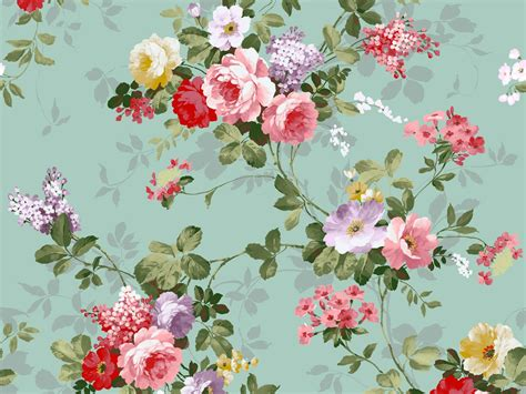 wallpaper flower wall vintage flowers wallpaper 1600x1200 875
