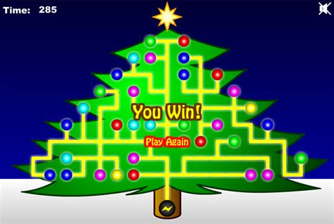 christmas tree light up game xmasblor