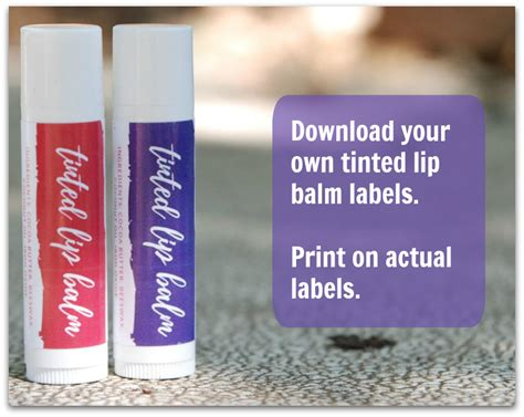 print your own gift labels self sufficiency diy lip balm labels the of