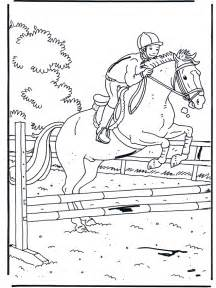 FunnyColoringcom / Animals Coloring Pages Horses Jumping sketch template