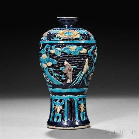 Ming Vase by Reticulated Fahua Vase China Ming Dynasty Alain R Truong