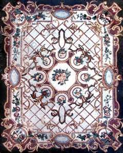 Mosaic Rug Tile floral marble mosaic floor carpet tiles 94x118 mosaic tile by mozaicoart