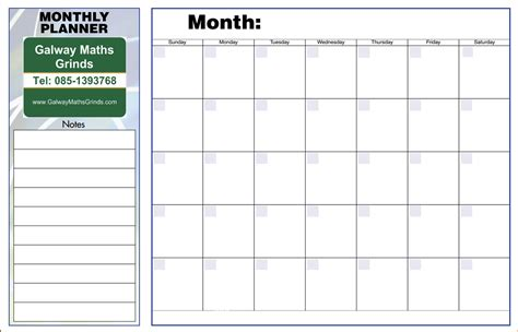 10 monthly planner template memo formats