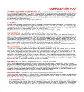 sales compensation plan template sle compensation plan template 8 free documents in