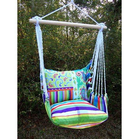 swinging chair hammock magnolia casual fine dandy hammock chair with pillow set