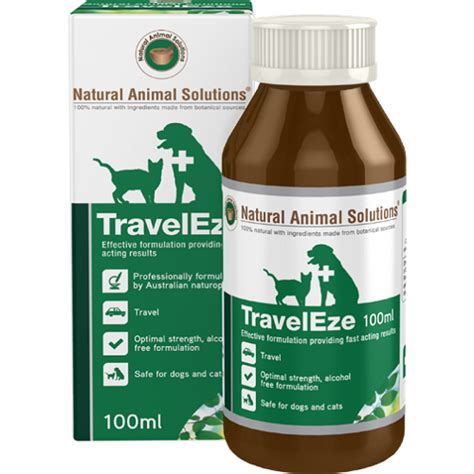 natural animal solution traveleze 100ml natural animal