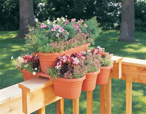 deck rail planter deck rail planter 4 pcs deck rail planter system mrp421 m