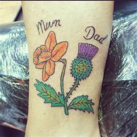 daffodil wrist tattoo 70 scottish thistle designs flowertattooideas