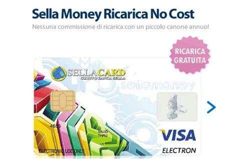 carte di credito sella carta sella money ricarica no cost