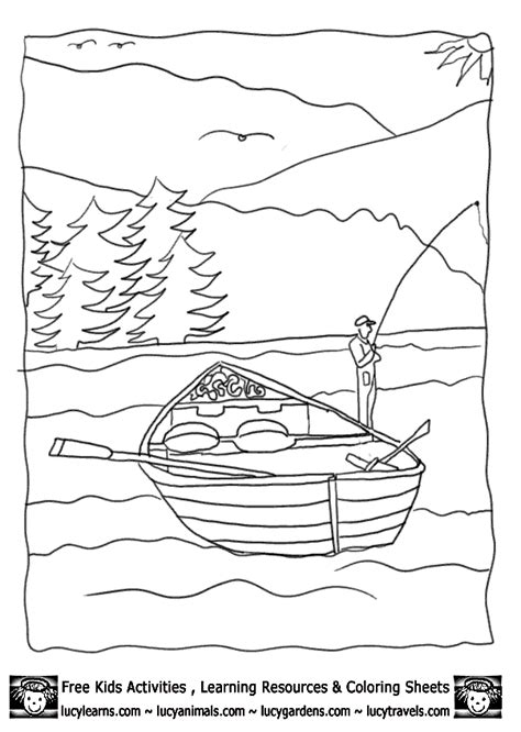 coloring page house boat row boat coloring page coloring home