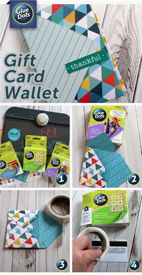 Glue Gift Card - how to make a gift card wallet