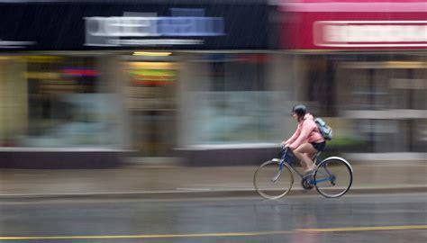 raincoat for bike riders biking in the rain gear tips and gentle encouragement