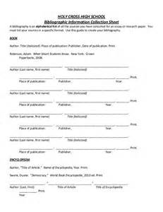 template for bibliography bibliography template