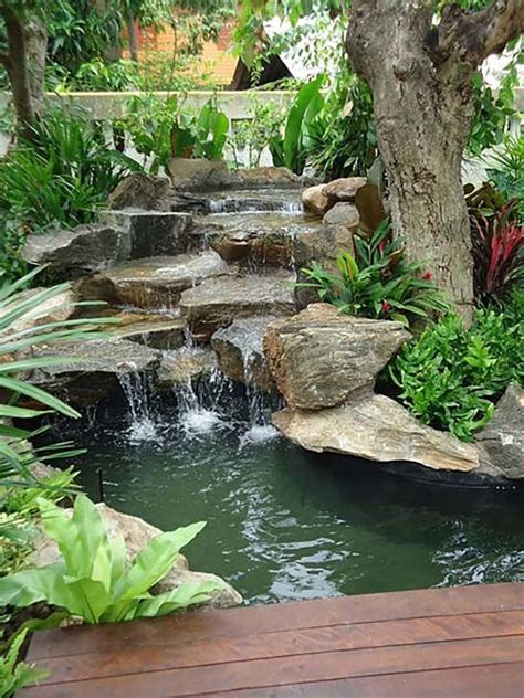 diy pool waterfall 17 best ideas about backyard waterfalls on pinterest