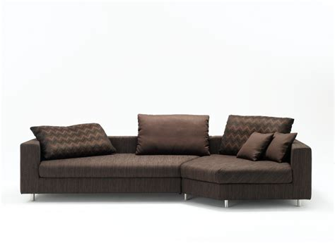 small modern couches brown sofa zigzag motive cushions metal legs small couches