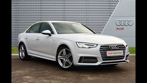 audi a4 white 2017 rk17voa audi a4 saloon white slough audi 2017 youtube