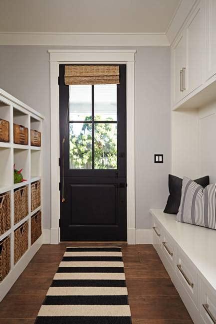 black interior  exterior doors creating brighter