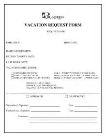 employee vacation request form template best photos of standard vacation request form employee