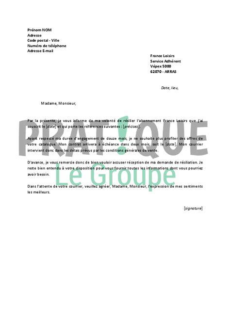 Lettre De Résiliation Vinci Autoroute Lettre De R 233 Siliation Loisirs Pratique Fr