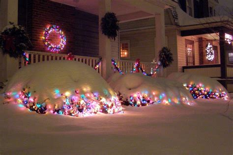 panoramio photo of snow on christmas lights maryland ave