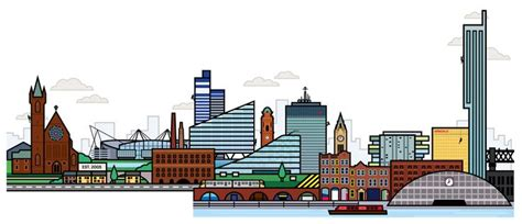 Manchester Skyline Drawing