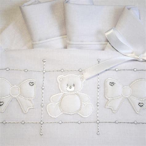 lenzuoli per culla coordinato lenzuola culla neonato fiocco bianco allegri