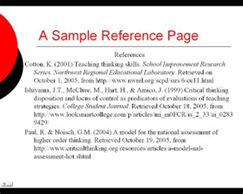 what is a reference page for a research paper research and writing powerpoint and speeches and apa