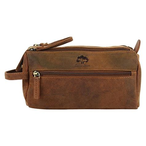 Handmade Toiletries - handmade buffalo genuine leather toiletry bag dopp kit